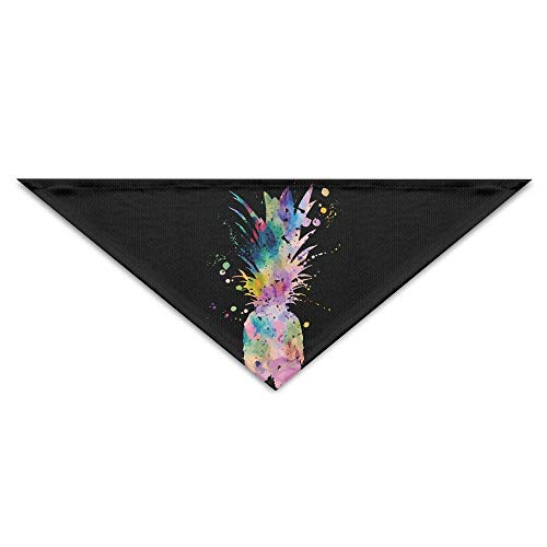 Sdltkhy Watercolor Pineapple Triangle Pet Scarf Dog Bandana Pet Collars for Dog Cat - ()