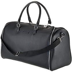 WLDOHO Business 2en1 Duffel Bag Housse de Costume Voyage | avec Housse de Protection | Housse vêtement pour Transport | idéal en Sac Voyage d´Affaires (Noir)