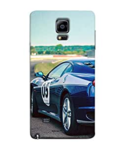 PrintVisa Designer Back Case Cover for Samsung Galaxy Note 4 :: Samsung Galaxy Note 4 N910G :: Samsung Galaxy Note 4 N910F N910K/N910L/N910S N910C N910Fd N910Fq N910H N910G N910U N910W8 (My Passion My Beautyful Car Dream Stand On Road )