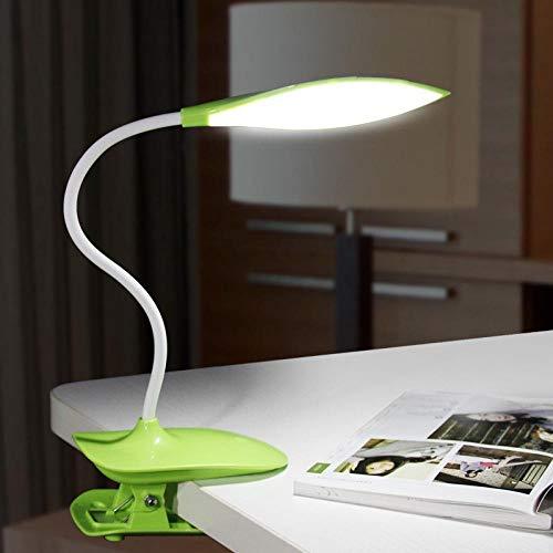 kreative blätter auge studie leseclip kleine schreibtischlampe führte berührungsschalter...