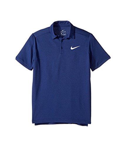 Nike B Dry Tennis Polo, Kinder Blau (Binärblau / weiß)