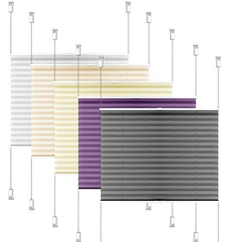 SIENOC Plissee Klemmfix Fenster Plissee Rollo Sonnenschutz Ohne Bohren Rollo Fenster & Türen inkl. Zubehör (Weiß, 90x220 cm)