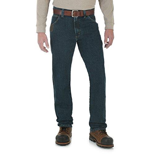 Wrangler Herren RIGG Workwear Big & Tall Five Pocket Jeans, Dark Tint, 44W / 34L -