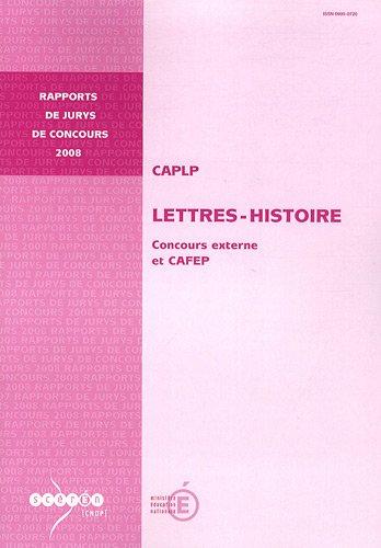 CAPLP Lettres-Histoire : Concours externe et CAFEP