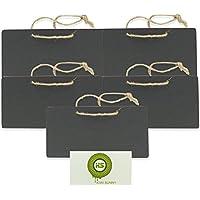Bcony mini Pizarra Madera WordPad de tablero de mensajes para oficina a fiesta boda de decoración, juego de 5