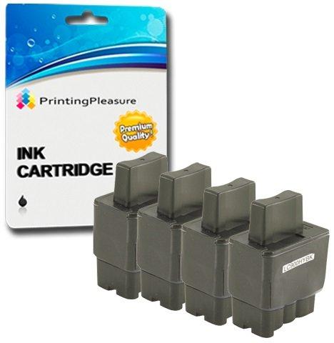 4 Tintenpatronen kompatibel zu LC900 LC950 für Brother DCP-110C 115C 117C 310C 310CN 315CN 340CW Fax-1840C 1940CN 2240C MFC-210C 215C 3240C 3340CN 410CN 425CN 5440CN 5840CN - Schwarz, hohe Kapazität -