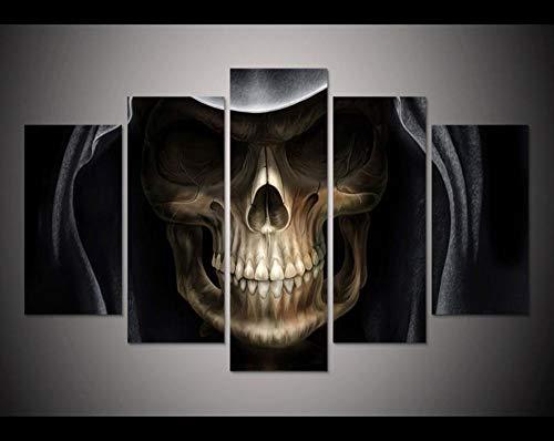 SCLWFJ Wulian malerei leinwand malerei Druck dämon Alien Teufel schädel malerei Dekoration Halloween wanddekoration Kunst