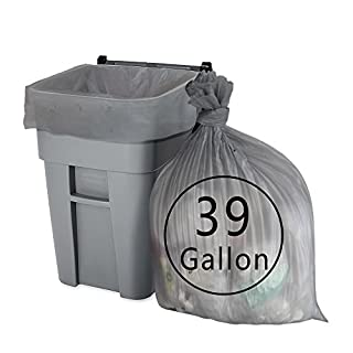 Anbers 39 Gallon Lawn and Leaf Trash Bags, 70 Counts (Grey)