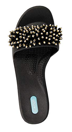 Oka-B Gaga Slide Sandale von OkaB, Schwarz (Lakritz), Small -