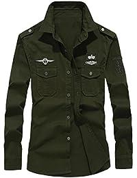 Amazon.it  top verde militare - Camicie   T-shirt 814860922b3