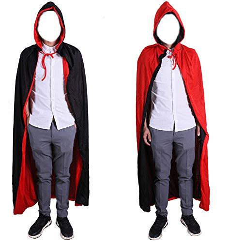 CYYMY Unisex Umhang mit Kapuze Halloween Umhang Doppelseitig für Erwachsene Kinder Cosplay Vampir Tod Kostüm Halloween - Familie Vampir Kostüm