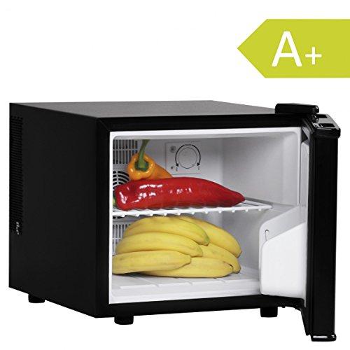 Amstyle Minikühlschrank 17 Liter Minibar Schwarz freistehender Mini Kühlschrank Klein 5°-15°C Energieklasse A+ Tischkühlschrank ohne Gefrierfach für Getränke Zimmerkühlschrank 230V 17L Geräuscharm (Mini Schwarz Kühlschrank)