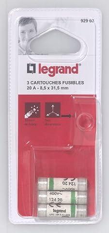 Fusible L 20a - Legrand LEG92903 3 Cartouches Fusibles 20 A
