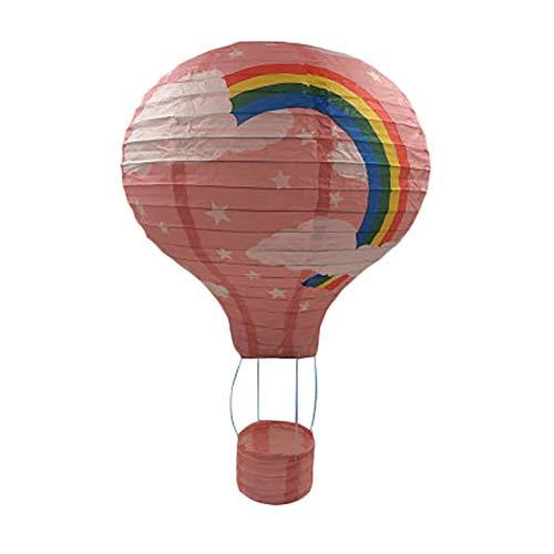 Depory Rainbow Globo de Aire Caliente, lámpara de Papel para decoración de Techo Jardín de Infantes Fiesta Decoración del hogar (10)