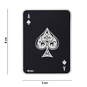 """Patch 3D PVC Carte à jouer Ace Of Spades """"As de Pique"""" Noir / Cosplay / Airsoft / Camouflage"""