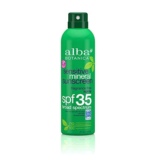 Alba Botanica Very Emollient Mineral Spray Sunscreen SPF 35, Fragrance Free, 6 Ounce by Alba Botanica -