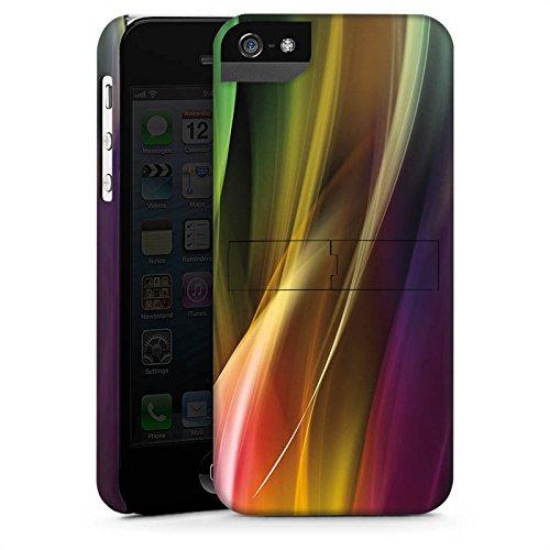 Apple iPhone X Silikon Hülle Case Schutzhülle Muster Farben Nebel Premium Case StandUp