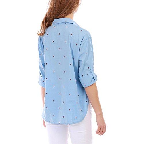 La Modeuse - Chemise à manches longues Bleu Clair