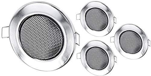 4Pack–Empotrable Mini Altavoz Altavoz de Techo de Metal–Halógeno de diseño–Cromo