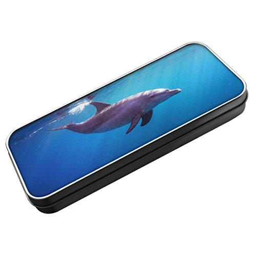 Animal-Astuccio in latta 031, motivo: delfino