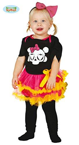 Baby Skelett Kostüm für Mädchen Gr. 86-104, (Heist Kostüm)