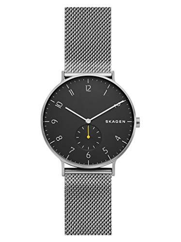 Skagen Herren Analog Quarz Uhr mit Edelstahl Armband SKW6470
