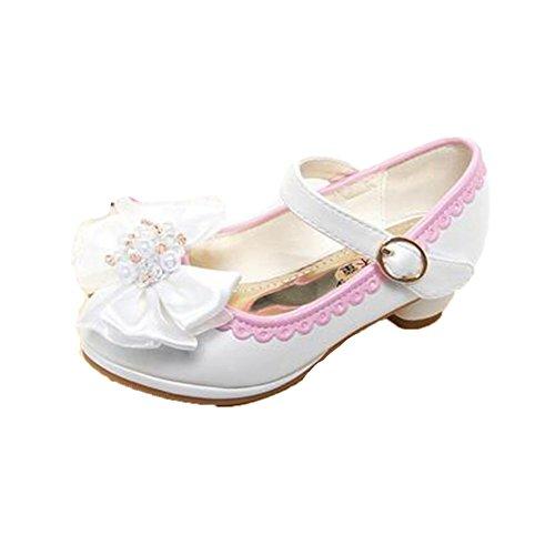 feecd4b329cc Ohmais Enfants Filles Chaussure cérémonie Ballerines à bride Fête  Demoiselle d honneur Mariage Escarpin à