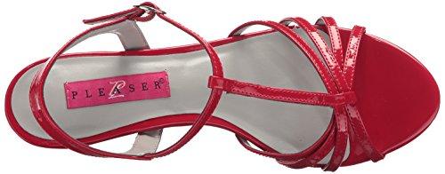 Pleaser Damen Kitten-06 Sandalen mit Absatz Red (Red Pat)