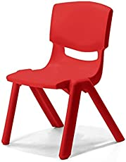 Intra Kids Strong and Durable kid's Plastic School Study Chair, Medium, 35x36x55cm (Red)