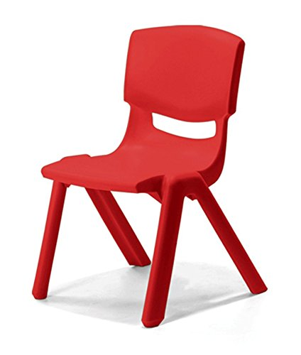 Intra Kids Strong and Durable kids Plastic school study chair - (Medium) (Red)