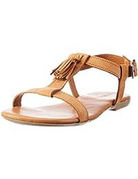Womens T-Bar 21-49247 Sandals Bianco