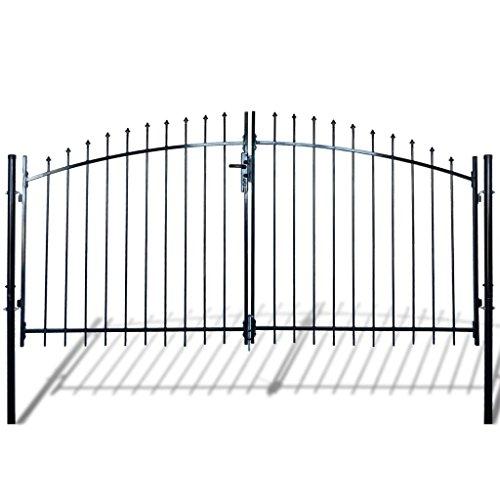 Festnight cancello modulare doppio in metallo verniciato con frecce 300 x 175 cm