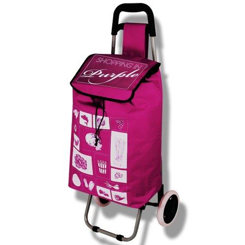 Einkaufstrolley - Trolley - Einkaufsroller - Shoppingtasche mit Farbauswahl (lila)