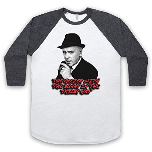 Inspiriert durch Minder Arthur Daley Unofficial 3/4 Hulse Retro Baseball T-Shirt Weis & Dunkelgrau