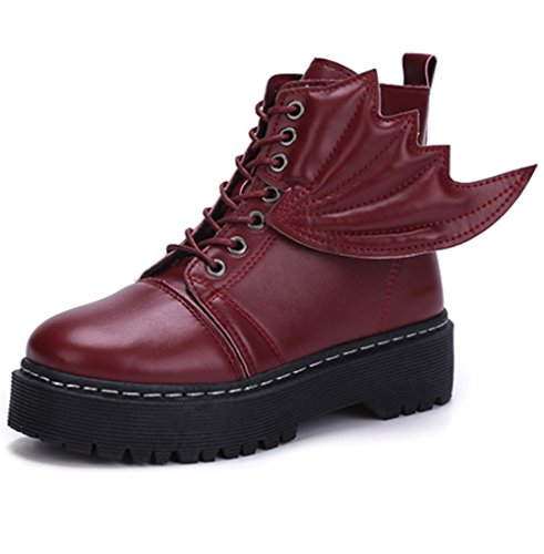 LemonGirl Damen Flügel Stil Stiefel Stiefeletten Boot Abdeckung Spray
