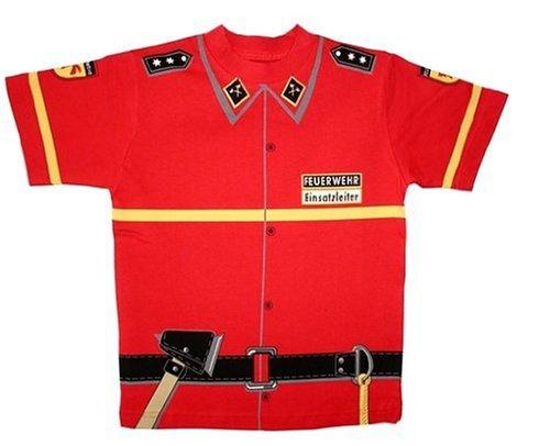 Ritter-erwachsenen T-shirt (Kid's Shirt Feuerwehr T-Shirt rot, Größe 134)