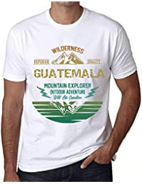One in the City Hombre Camiseta Vintage T-Shirt Gráfico Guatemala Mountain Explorer Blanco