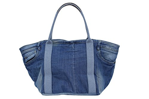 Damen Jeans Hose Shopper mit Glitzer Stern,Handtasche,Henkeltasche, Schultertasche,Hobo Bag JL922 Jeans