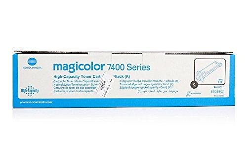 Magicolor 7450 Schwarz Toner (Original Toner passend für Konica Minolta Magicolor 7450 II GA Konica Minolta 8938621 , 8938-621 , 8938621000 , 89386210000 - Premium Drucker-Kartusche - Schwarz - 15.000 Seiten)