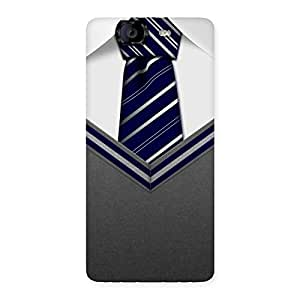 Impressive Grey Uniform Back Case Cover for Canvas Knight A350