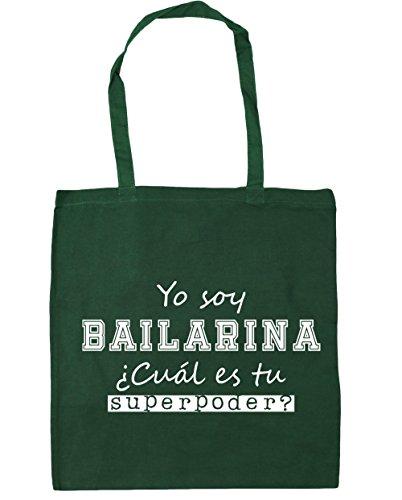 HippoWarehouse Yo Soy Bailarina, ¿Cuál es tu Superpoder? Bolso de Playa Bolsa Compra Con Asas para gimnasio 42cm x 38cm 10 litros capacidad