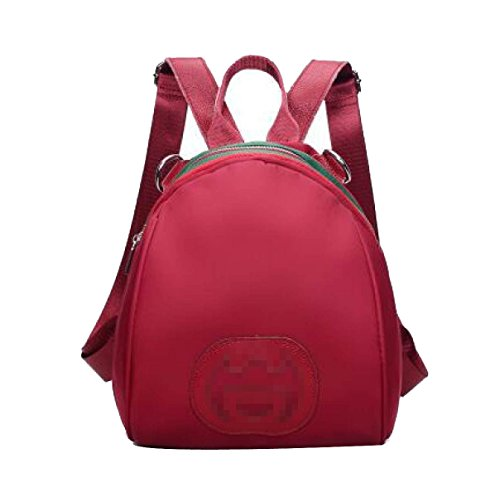 Ms Nylon Concise Arder Sac à Dos Urban Style Multicolor WineRed