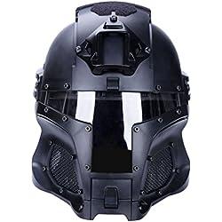 DYFO Casque Tactique Casque Masque Casque Militaire pour Airsoft Paintball CS Wargame-Noir