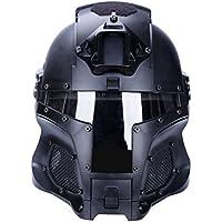 Mecotech Casco Táctico con Máscara y Gafas de Protección para Paintball, Combate, Airsoft Mascara Completa