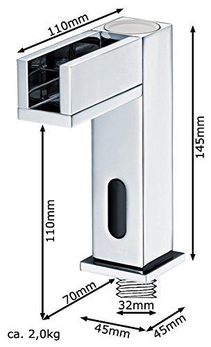 Sanlingo – Waschtisch-Sensorarmatur, Mischbatterie, Batteriebetrieb, Wasserfall, LED-Beleuchtung, Chrom - 4