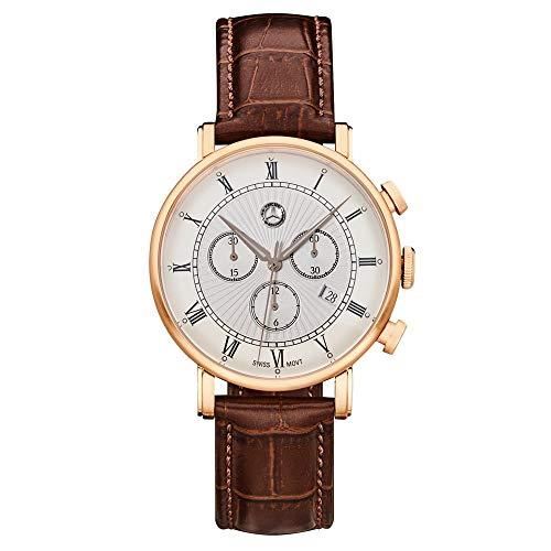 "Mercedes Benz Original Reloj Pulsera Hombre Cronógrafo"" Classic Retro"