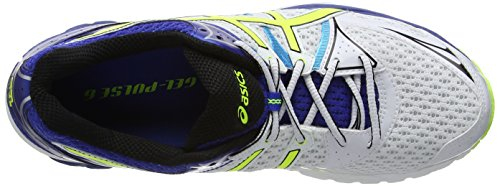Asics Gel-Pulse 6, Chaussures de trail homme Blanc (White/Flash Yellow/Blue 107)