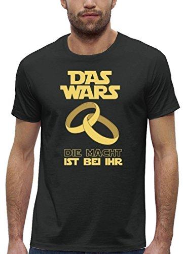 Junggesellenabschieds JGA Hochzeit Herren T-Shirt Bio Baumwolle Das Wars - Die Macht ist bei ihr Anthrazite