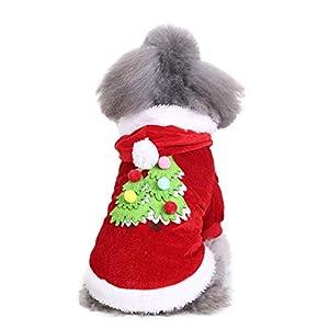 Vêtements pour Chien,Robe de Festival de vêtements de Sapin de Noël Chien Confortable,Manteau Habits pour Chien