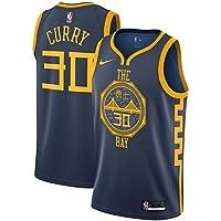 Lalagofe Stephen Curry, Golden State Warriors, 30 Basket Jersey Maglia Canotta, Nero City Edition, Maglia Swingman Ricamata, Stile di Abbigliamento Sportivo (M)